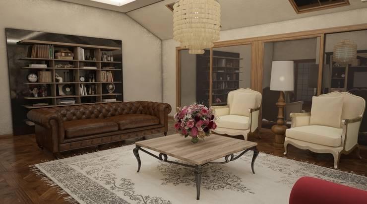 Sonmez Mobilya Avantgarde Boutique Modoko – Domiklasik Salon Projesi / Özel:  tarz Oturma Odası, Minimalist
