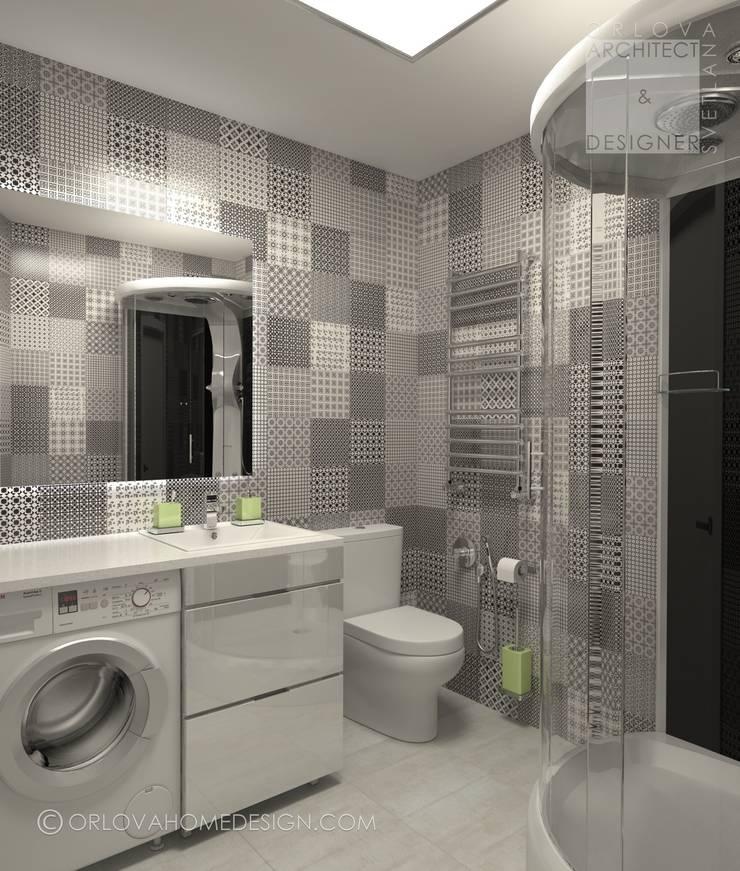 Квартира в Подмосковье 55 м²: Ванные комнаты в . Автор – Orlova Home Design