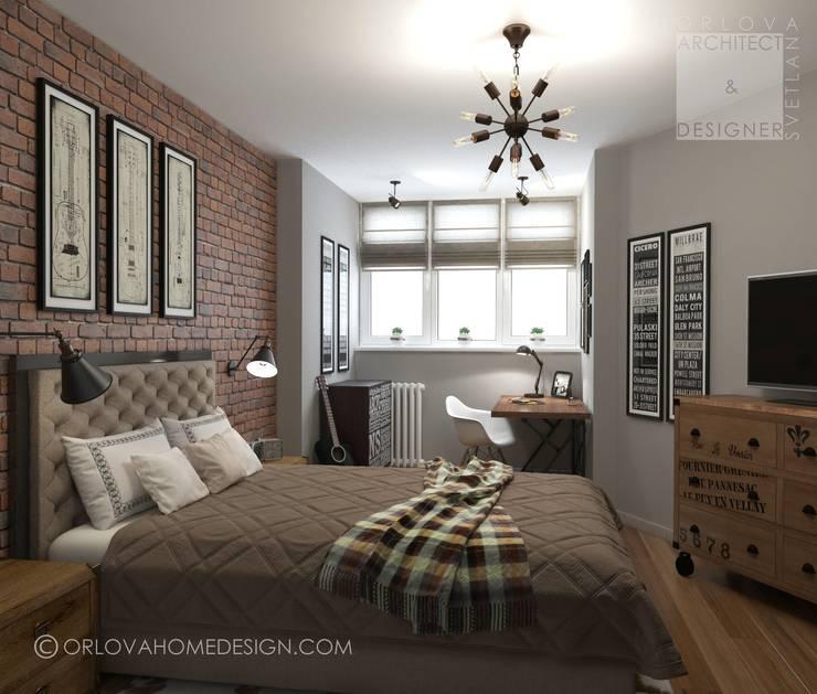 Квартира в Подмосковье 55 м²: Спальни в . Автор – Orlova Home Design