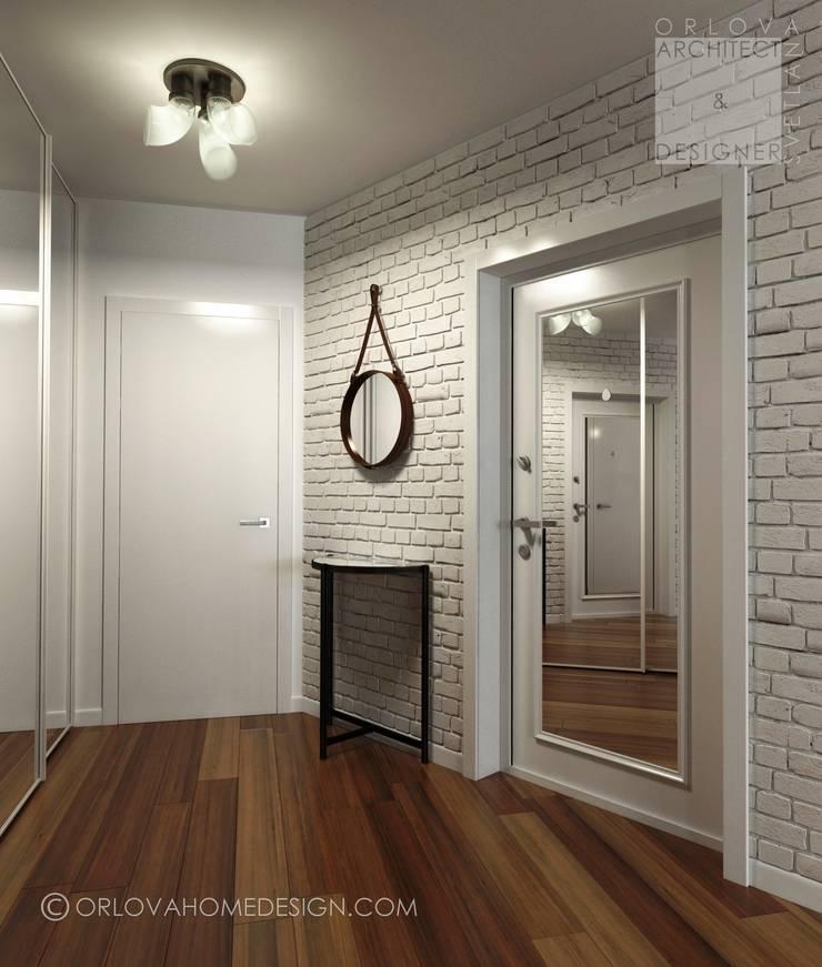 Квартира в Подмосковье 55 м²: Коридор и прихожая в . Автор – Orlova Home Design