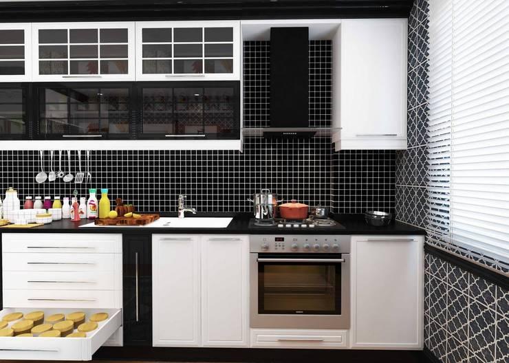 GN İÇ MİMARLIK OFİSİ – iç mimari tasarım mutfak: modern tarz Mutfak