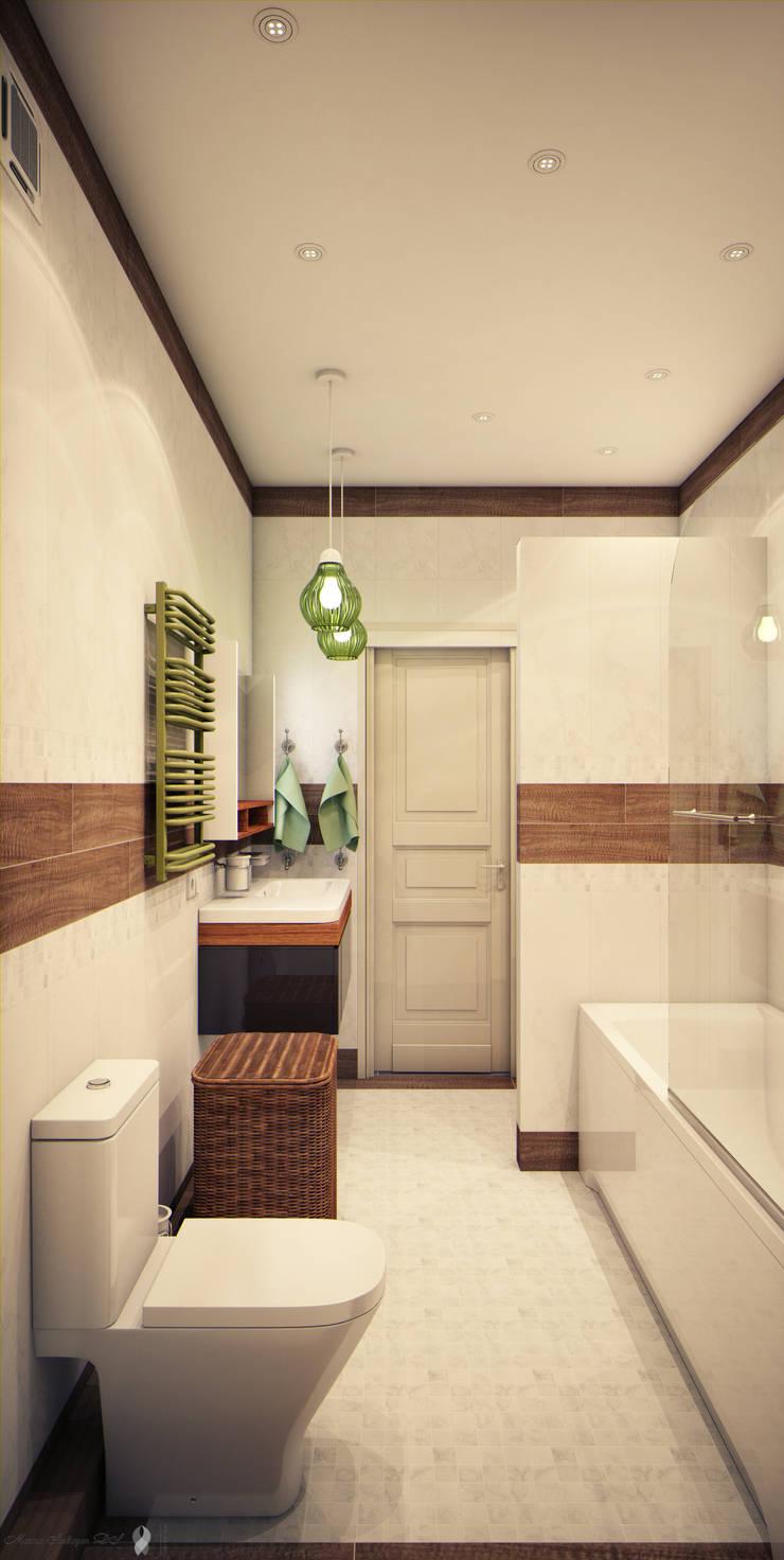 Calm,cute and colorful: Ванные комнаты в . Автор – Marina Sarkisyan, Эклектичный