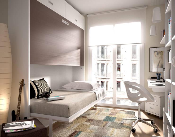 DORMITORIOS JUVENILES: Dormitorios de estilo moderno de MUEBLES DUERO