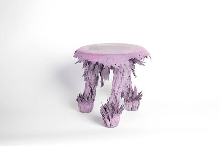 Gravity Stool – Light Pink:  Kunst  door Jólan van der Wiel
