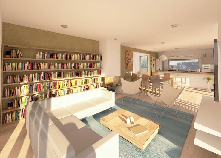Salas de estar modernas por AL ARCHITEKT