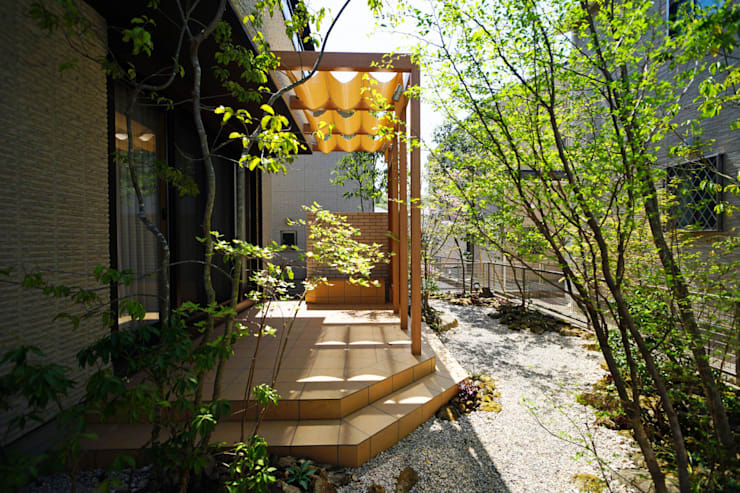 Giardino in stile in stile Eclettico di にわいろSTYLE