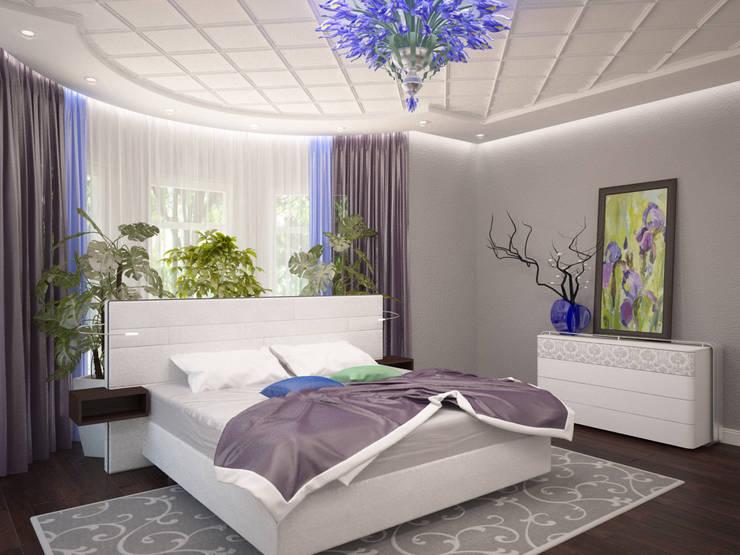 """Спальня """"Ирисы"""": Спальни в . Автор – LD design,"""