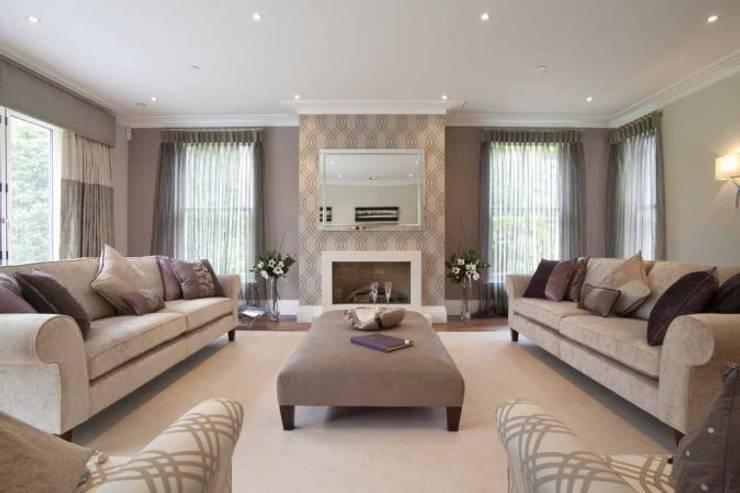 Sala de estar  por Pygmalion Interiors