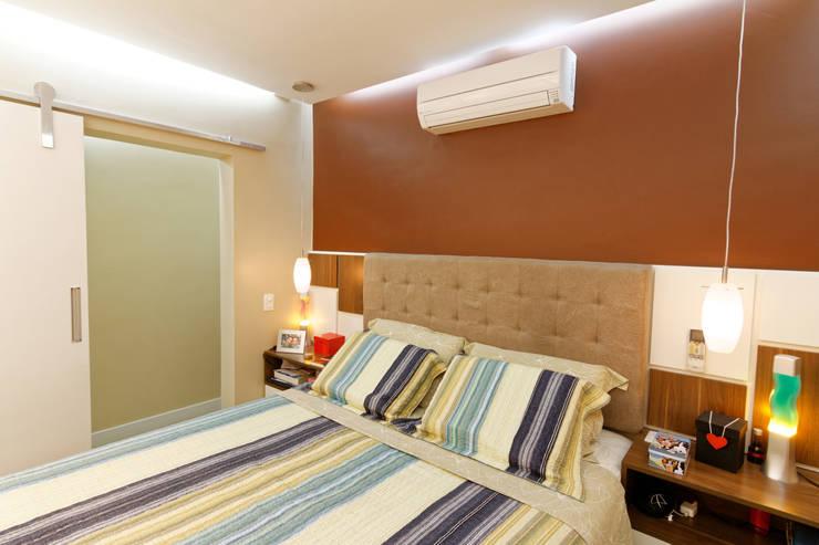 Apartamento Parque Butantã - 50m²: Quartos  por Raphael Civille Arquitetura