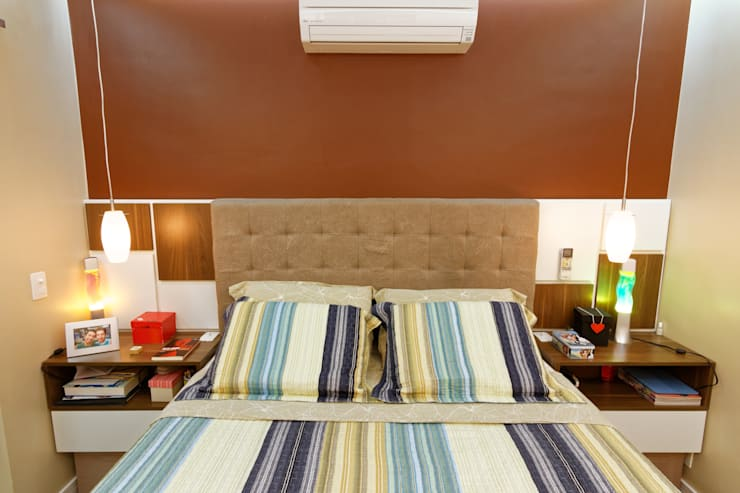غرفة نوم تنفيذ Raphael Civille Arquitetura