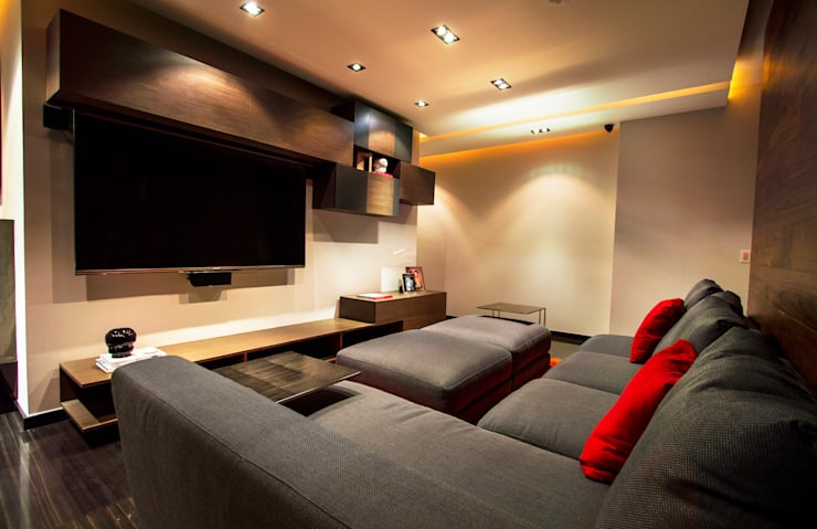 Salas de entretenimiento de estilo  por Concepto Taller de Arquitectura
