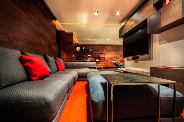 Départamento Vidalta: Salas multimedia de estilo moderno por Concepto Taller de Arquitectura