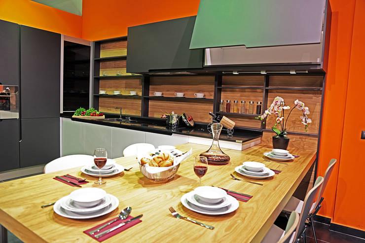 Ada Ahşap – GREY: modern tarz Mutfak