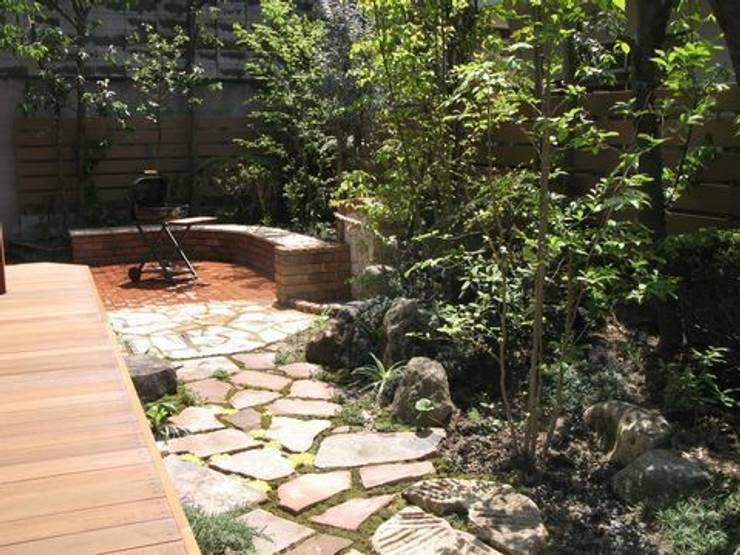 バーベキュースペース(南東角): アーテック・にしかわ/アーテック一級建築士事務所が手掛けた庭です。