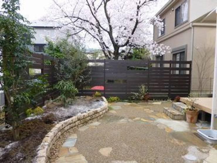 北西から北東角を観る: アーテック・にしかわ/アーテック一級建築士事務所が手掛けた庭です。