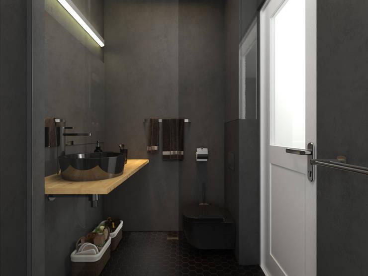 studio parisien: Salle de bains de style  par Agence KP