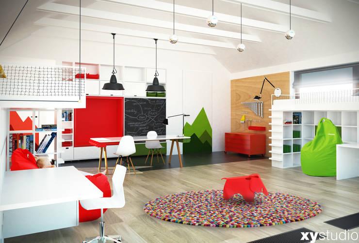 pokój 2 chłopców: styl , w kategorii Pokój dziecięcy zaprojektowany przez xystudio