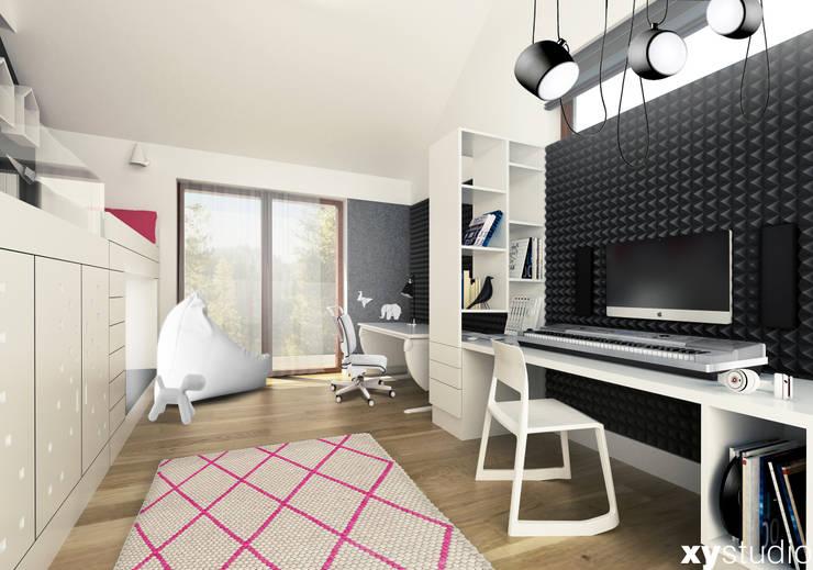 pokój dla dziewczynki: styl , w kategorii Pokój dziecięcy zaprojektowany przez xystudio