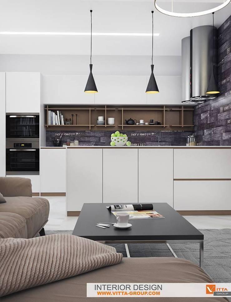 Contemporary apartments: Кухни в . Автор – VITTA-GROUP