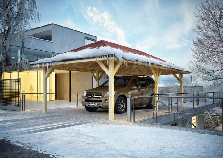 Projekty,  Garaż zaprojektowane przez Karibu Holztechnik GmbH