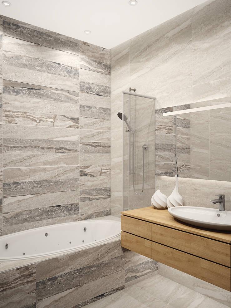Ванная Ракушка: Ванные комнаты в . Автор – VITTA-GROUP