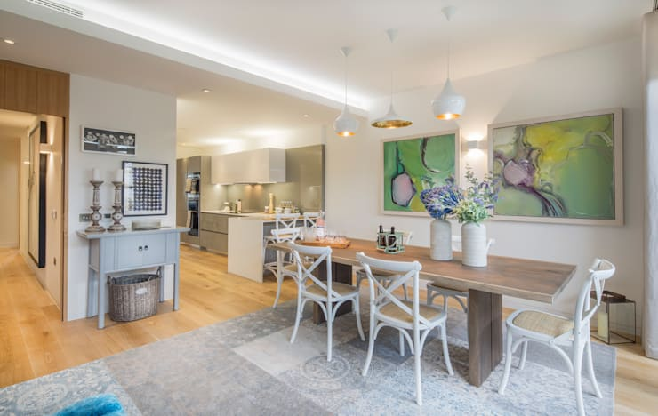 Argyll Place - Kitchen/Breakfast Room:  Dining room by Jigsaw Interior Architecture