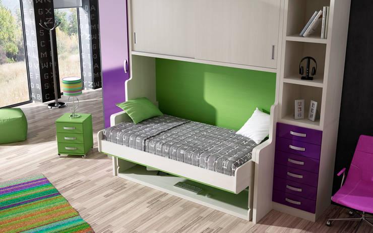 MESA CONVERTIBLE EN CAMA: Estudio de estilo  de Muebles Parchis. Dormitorios Juveniles.