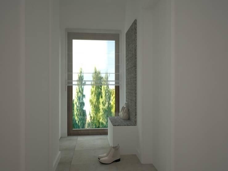 Dom w Łodzi: styl , w kategorii Korytarz, przedpokój zaprojektowany przez Kameleon - Kreatywne Studio Projektowania Wnętrz