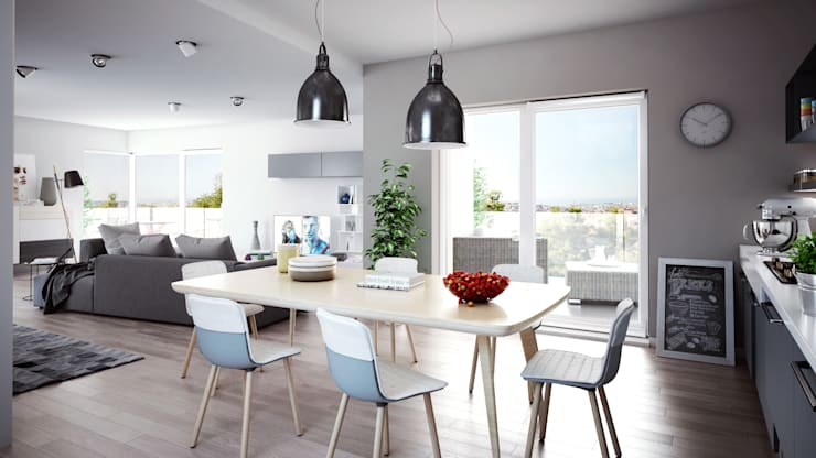 Livings de estilo escandinavo por SMAG design