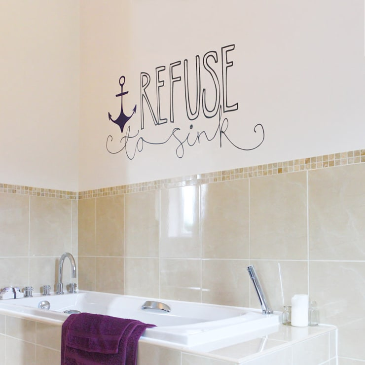 Refuse to sink wall sticker:  Walls & flooring by Vinyl Impression
