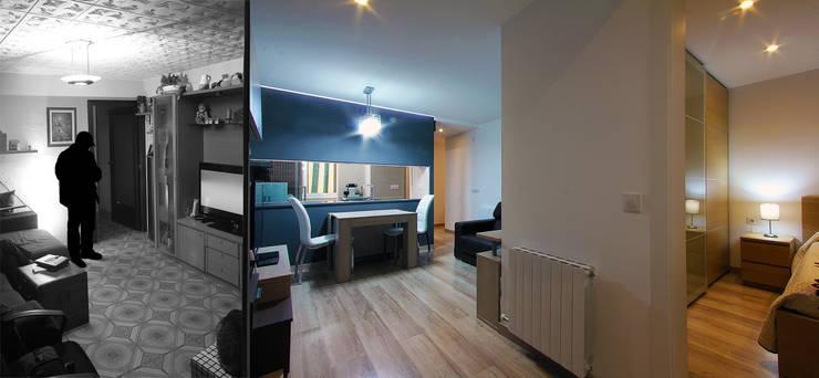 Una nueva vivienda en el piso de toda la vida... en Barri Porta, Barcelona.:  de estilo  de XTe Interiorismo