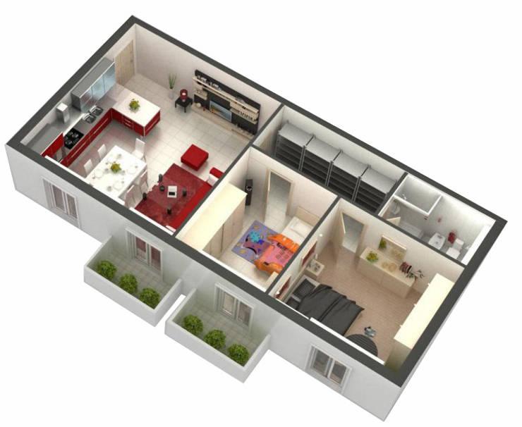 Planimetrie di case e appartamenti 10 esempi per ispirarti for Planimetria 3d
