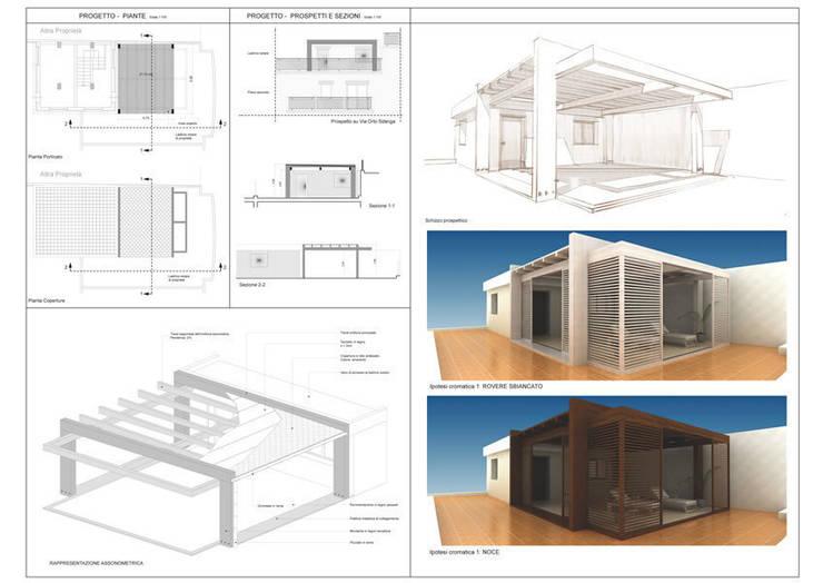 Tерраса в . Автор – SolidART Digital Architecture