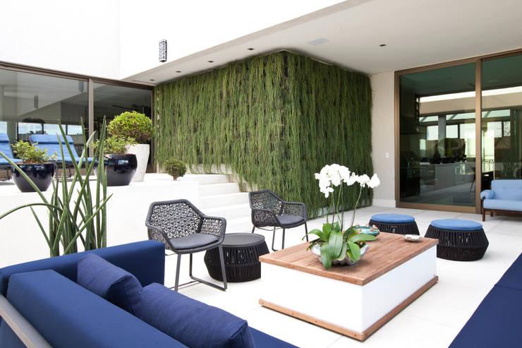 Cobertura Nova Lima – MG: Jardins  por CP Paisagismo,Moderno