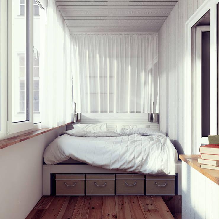 дизайн студии в скандинавском стиле: Спальни в . Автор – sreda