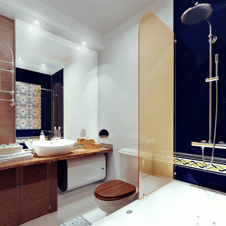 дизайн студии в скандинавском стиле: Ванные комнаты в . Автор – sreda