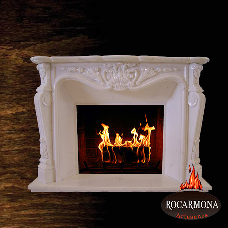 chimenea mod ra-02: Hogar de estilo  de Rocarmona Artesanos,s.l.