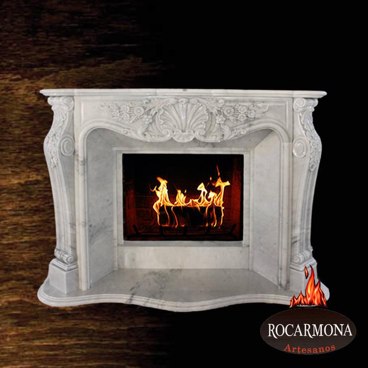 chimenea mod ra-04: Hogar de estilo  de Rocarmona Artesanos,s.l.