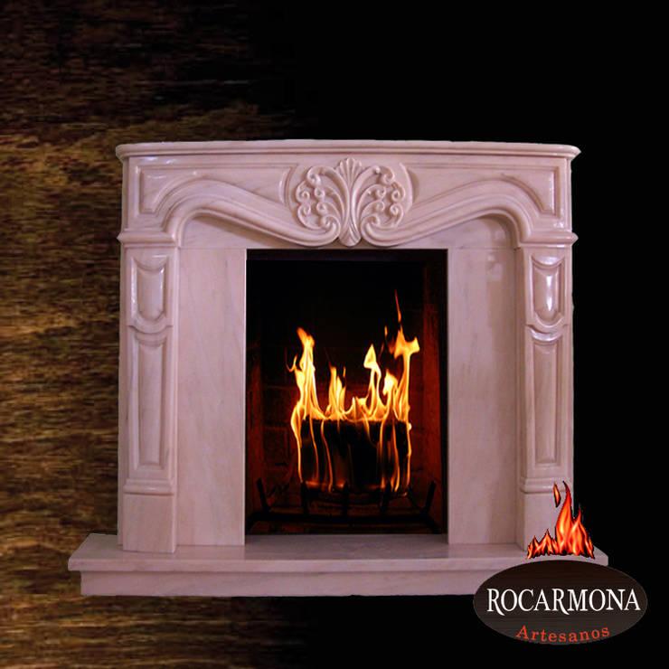 chimenea mod ra-08: Hogar de estilo  de Rocarmona Artesanos,s.l.