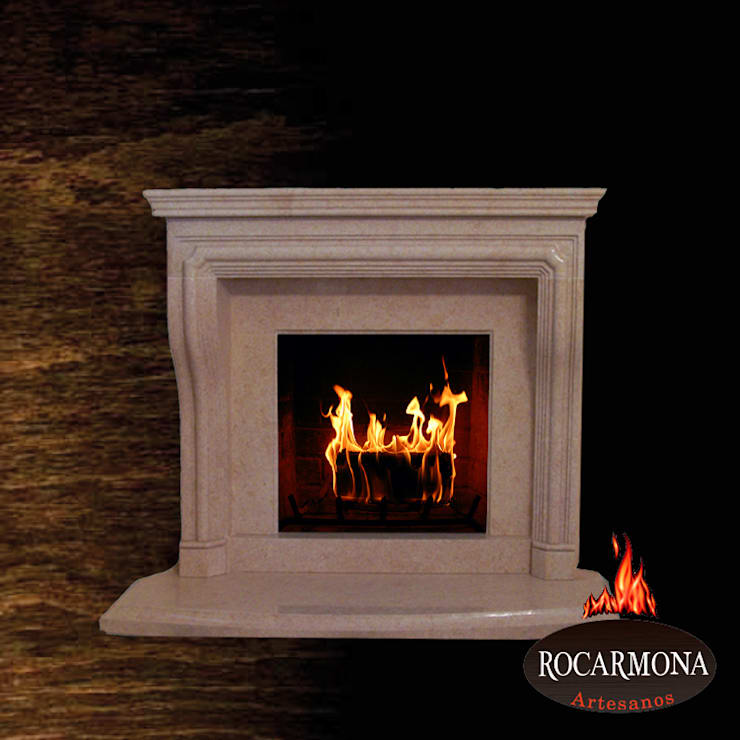 chimenea mod ra-06: Hogar de estilo  de Rocarmona Artesanos,s.l.