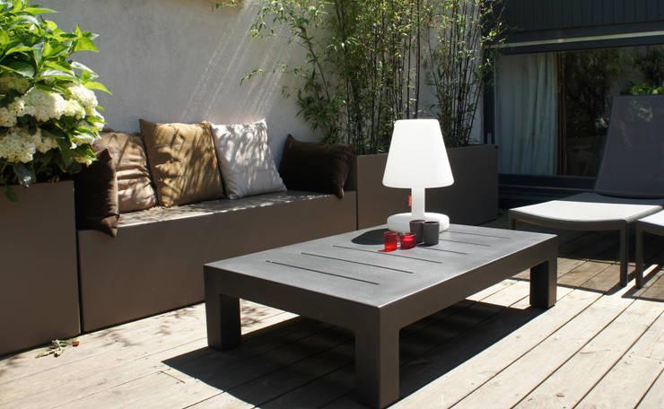 Bacs et Bancs Image'In: Jardin de style de style Moderne par ATELIER SO GREEN