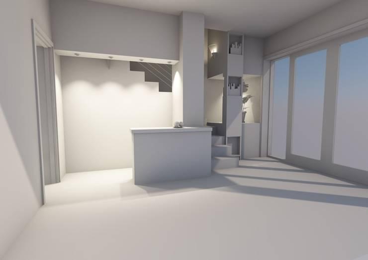 Les solutions petits espaces:: Salon de style  par AeA - Architecture Eric Agro