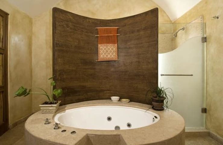Baños de estilo  por CASA MÉXICO