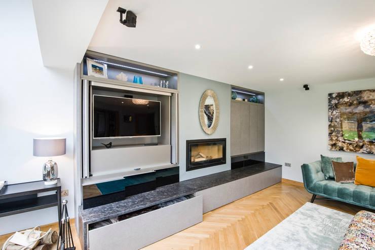 Multimedia room by Lisa Melvin Design