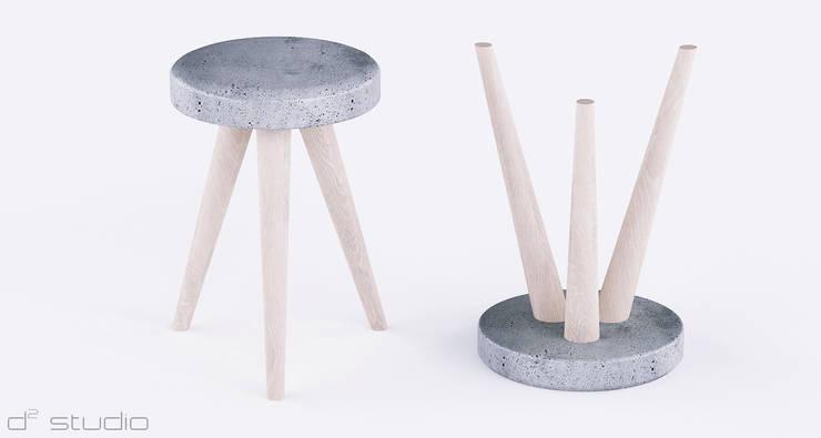 Stolik SOFTCONE od D2 Studio: styl , w kategorii Balkon, weranda i taras zaprojektowany przez D2 Studio,
