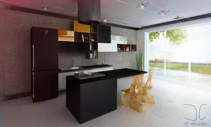 Nowoczesna kuchnia modułowa: styl , w kategorii Kuchnia zaprojektowany przez D2 Studio