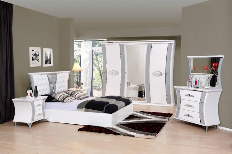 Tuna Mobilya – Kelebek Yatak odası:  tarz Yatak Odası