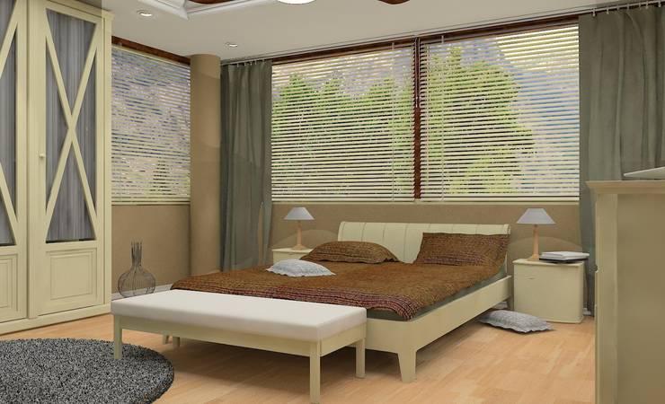 Render Dormitorio : Dormitorios de estilo  de AG INTERIORISMO