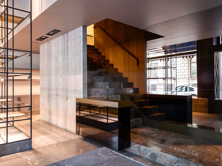 Hieronymus:  Winkelruimten door Glenn Sestig Architects, Minimalistisch