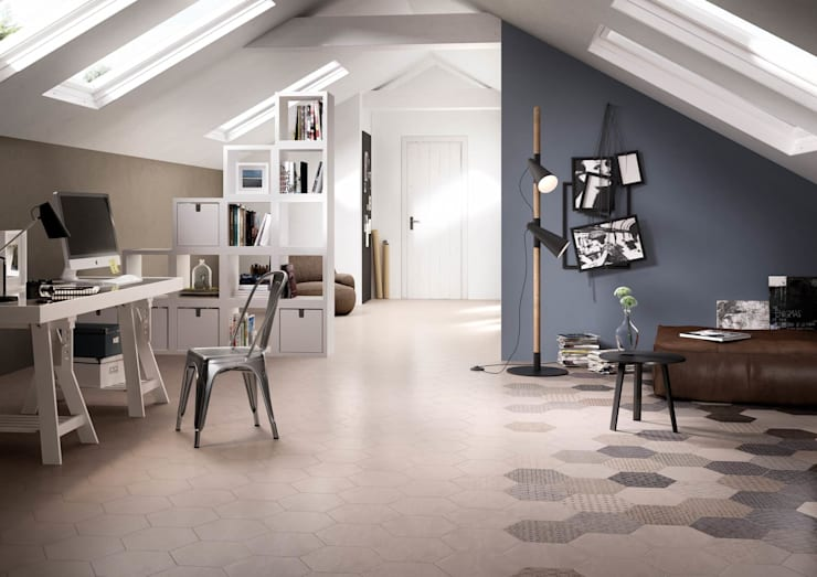 Hexagonal Floor Tiles:  Walls by Tileflair